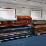 Full size Caskets in showroom