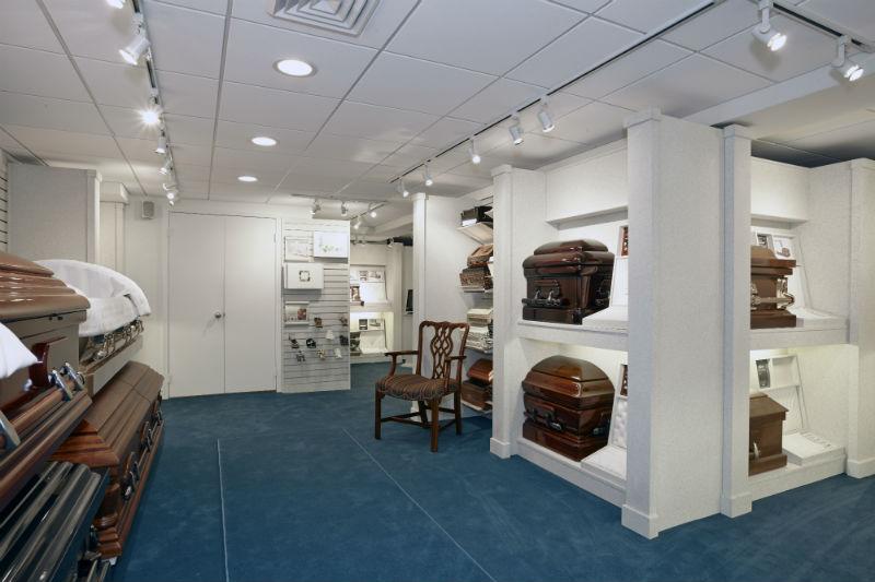 Affordable caskets urns and keepsakes andrett funeral - Modern funeral home interior design ...