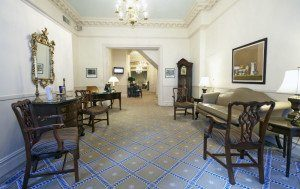 Lobby of Funeral Home
